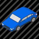 car, cartoon, family, isometric, retro, sedan, silhouette