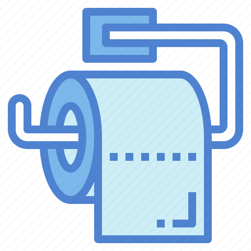 cleaning, paper, roll, tissue, toilet icon