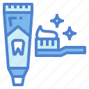 brush, cleaning, paste, teeth, tooth icon