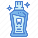 dental, medical, mouthwash, teeth icon