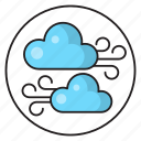 fresh, wind, blowing, clouds, air icon