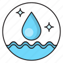 dusting, water, cleaning, hygiene, drop icon
