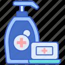 antibacterial, clean, soap, wash icon