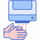 drying, hands, hygiene icon