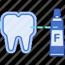 fluoride, protection, teeth icon