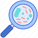 dirty, germs, magnifier, viruses icon