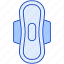 hygiene, menstrual, pad icon