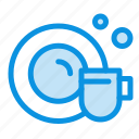 cleaning, cup, dish icon