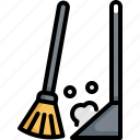 broom, clean, cleaning, hygiene, sweeping, washing icon