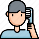 clean, cleaning, comb, hair, hygiene, salon, washing icon