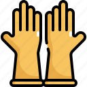 clean, cleaning, glove, gloves, hygiene, rubber, washing icon