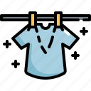 clean, cleaning, dry, drying, hygiene, shirt, washing icon