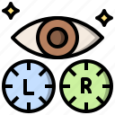 beauty, contact, eye, finger, lens, ophthalmology, optical icon