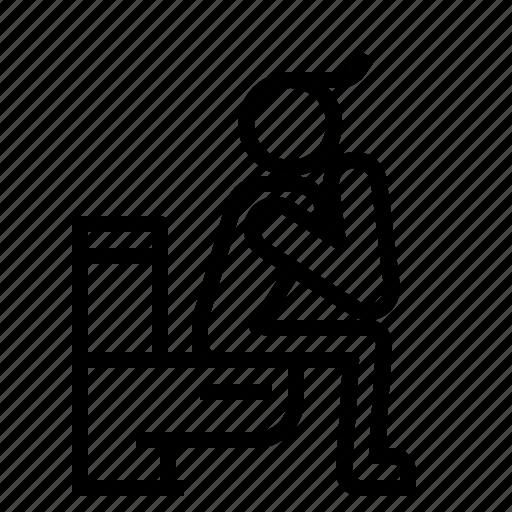 male, restroom, toilet icon