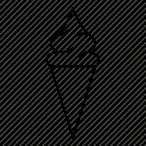 cone, creamy, icecream, softserve icon