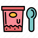away, cup, ice cream, take icon