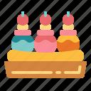 banana, dessert, ice cream, sprit