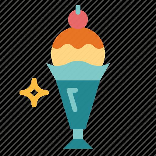 dessert, fudge, ice cream, sundae icon