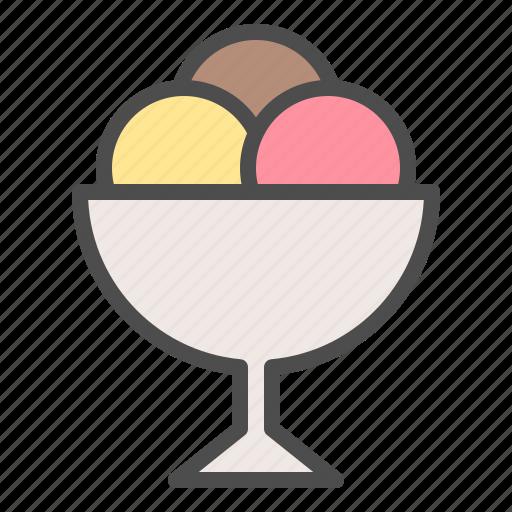 ice cream, sundae, sweets icon