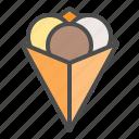 ice cream, ice cream crepe, icecream, sweets icon