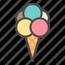 ice cream, ice cream cone, icecream, sweets icon