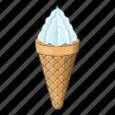 cafe, candy, cartoon, cone, cream, design, ice icon