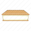 ball, bowl, cafe, cartoon, design, ice-cream, waffle icon
