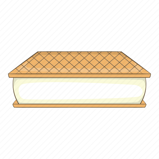 Ball, bowl, waffle, design, ice-cream, cafe, cartoon icon