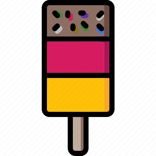 colour, ice, lollies, lolly, sprinkles, ultra icon