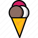 colour, cone, ice, lollies, ultra, waffle icon