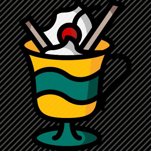 colour, cream, lollies, mug, sunday, ultra icon