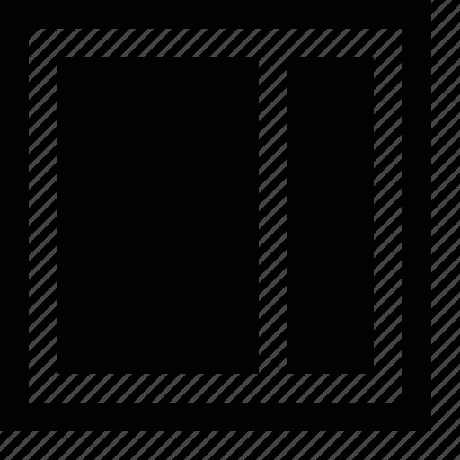 align, arrange, divide, dock, frame, layout, order, page, pane, panel, right, split, tile, view, window, workspace icon