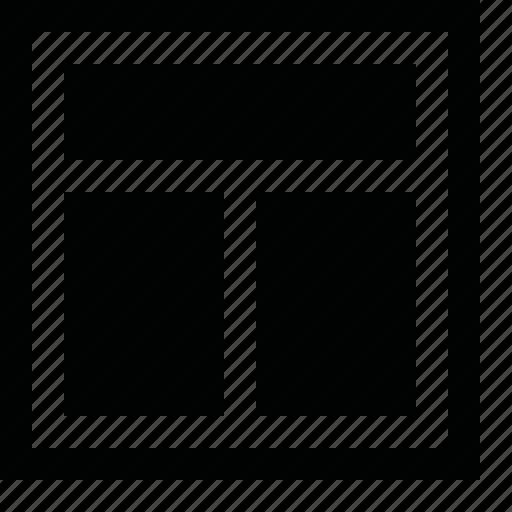 align, arrange, center, divide, dock, frame, layout, order, page, pane, panel, split, tile, top, view, window, workspace icon