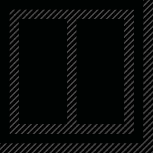 align, arrange, divide, frame, layout, order, page, pane, panel, split, tile, vertical, view, window, workspace icon