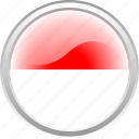 flag, indonesian flag, red, white icon