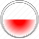 city, flag, polandia, red icon
