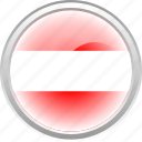 austrian, country, flag, white icon