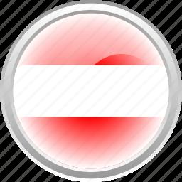 austrian, country, flag, white icon