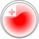 country, flag, red, tonga, white icon