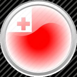 country, flag, red, tonga, white icon
