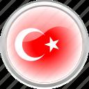 flag, islamic, red, turkey