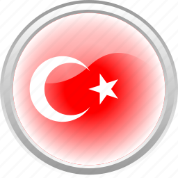 flag, islamic, red, turkey icon