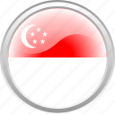 country, flag, lion, singapure icon