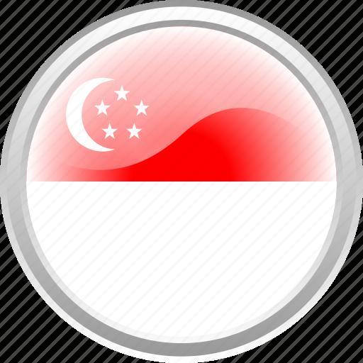 country, flag, lion, singapure icon