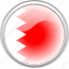 bahrain, country, flag, red icon