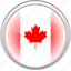 canada, country, flag, red icon