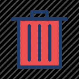 bin, delete, recycle, trash icon