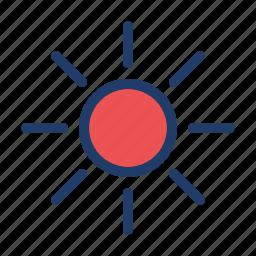 brightness, control icon