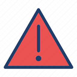 alert, attention, danger, exclamation, warning icon