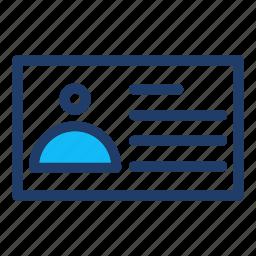 card, identity icon